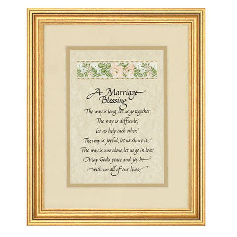 Marriage Blessing Print In Elegant Wooden Frame Wedding Gift ...