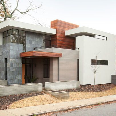 Concrete block wood and stucco exterior house for Concrete block stucco
