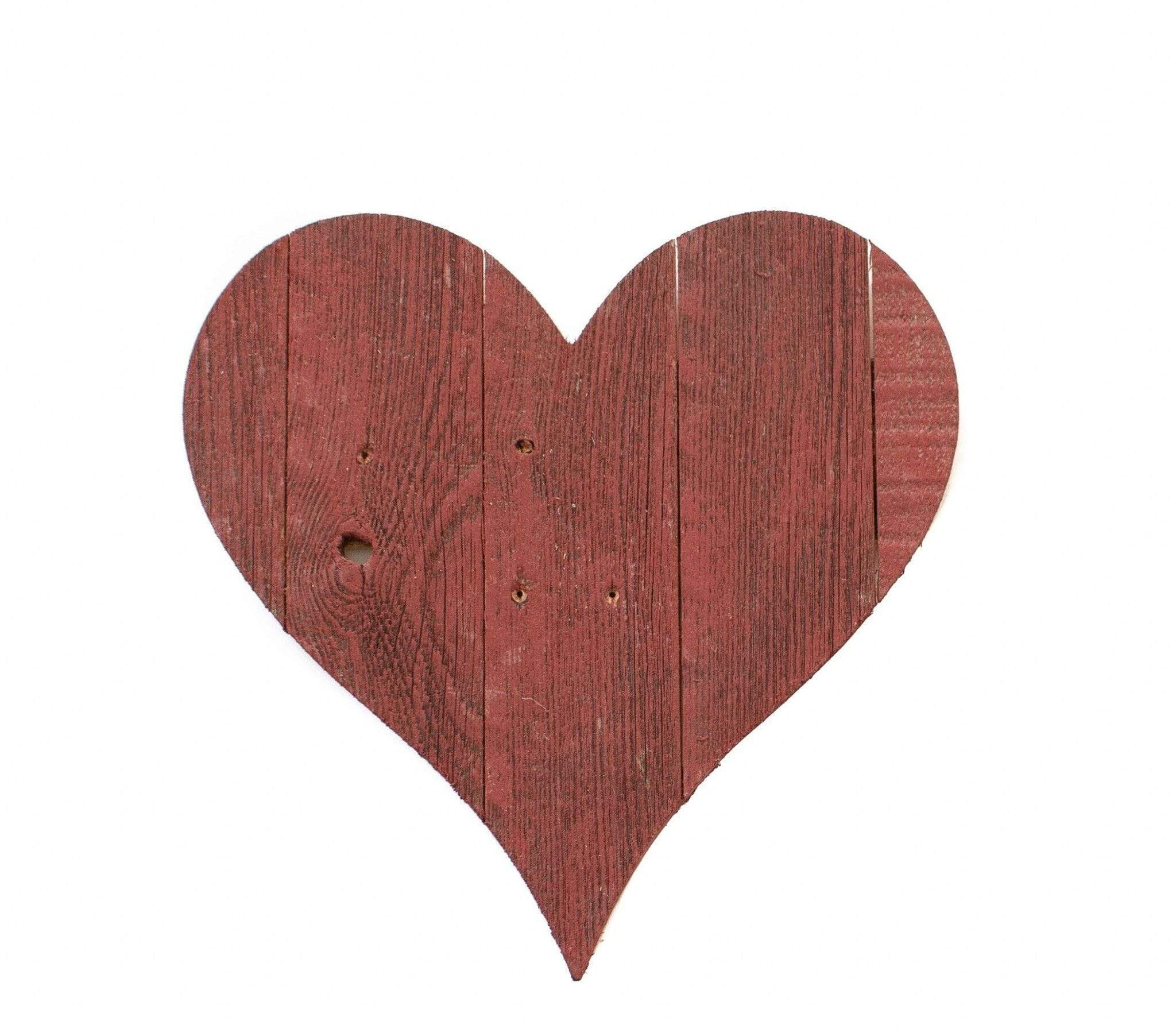 Photo of 24″ Rustic Farmhouse Red Large Wooden Heart