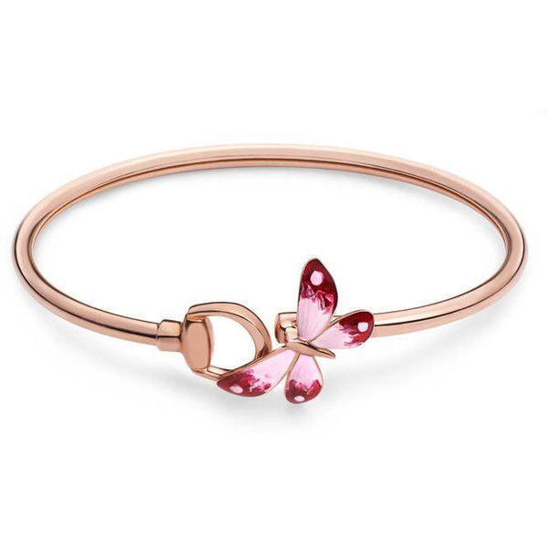 Gucci Flora bracelet in rose gold and enamel 7TtjZUTkIM