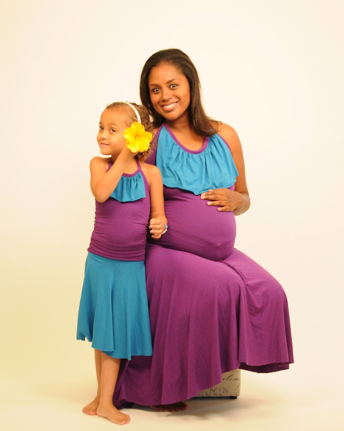 Summer Maternity Circle Skirt Strapless Dress by SoulRole ...
