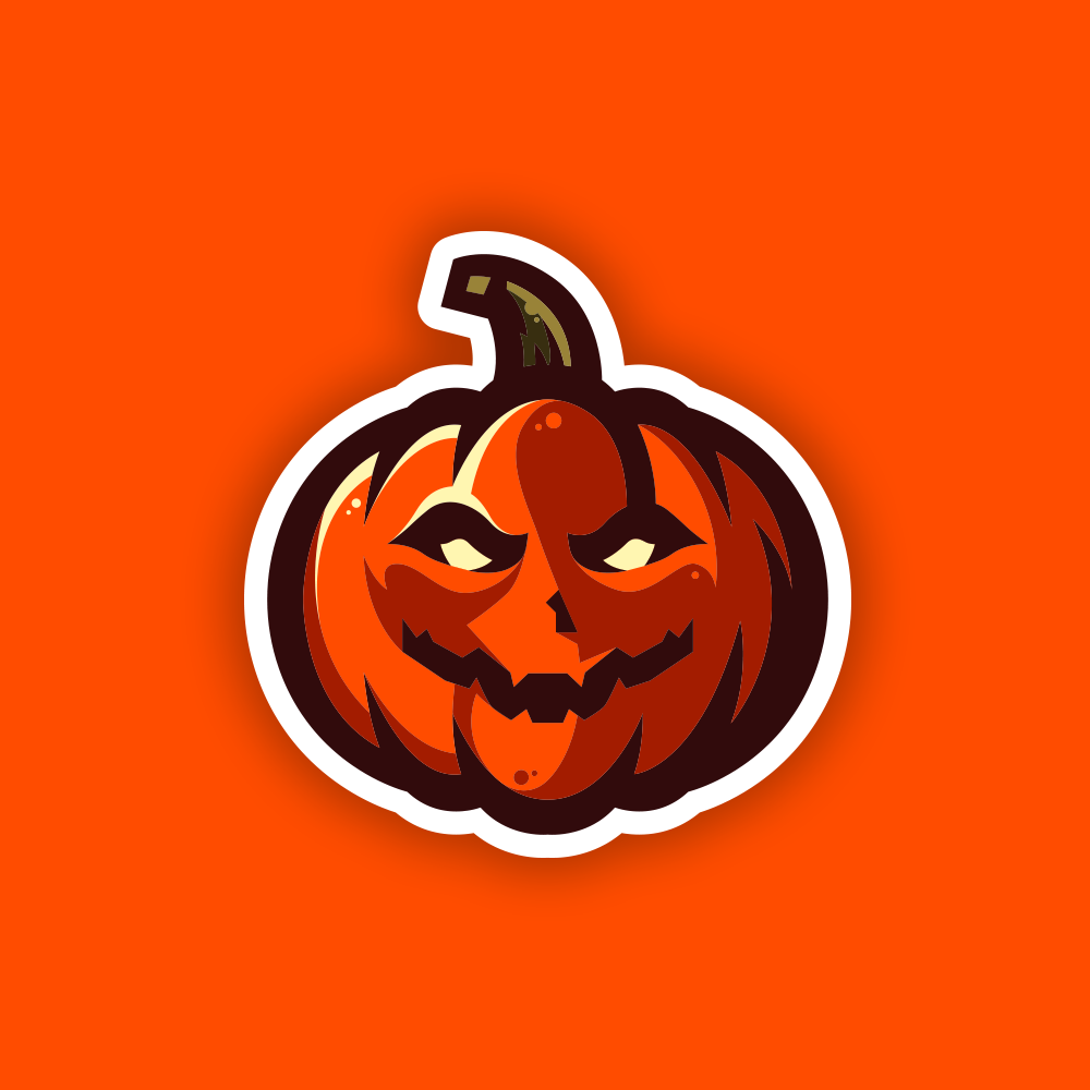 Pumpkin Mascot Logo Halloween Logo Logo Design Creative Logo Design