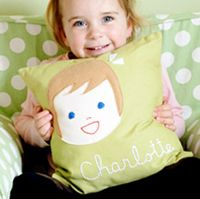 olliegraphic pillow :: girl