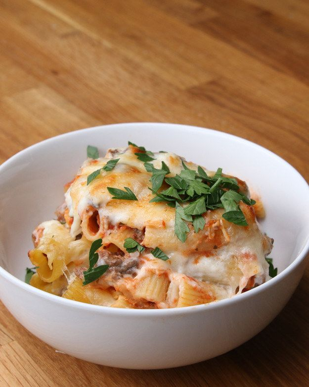 Save & Bake Beef and Cheese Rigatoni