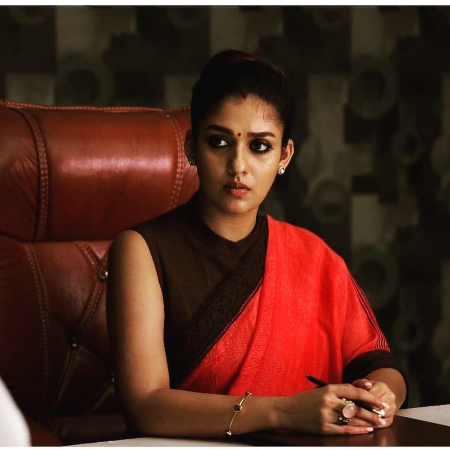 v on instagram one more still from viswasam nayanthara in saree saree saree trends nayanthara in saree