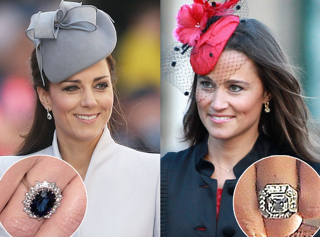 Stunning Sparklers Comparing Pippa Middleton S And Kate Middleton S Engagement Rings Pippa Middleton Wedding Kate Middleton Engagement Ring Kate Middleton Wedding
