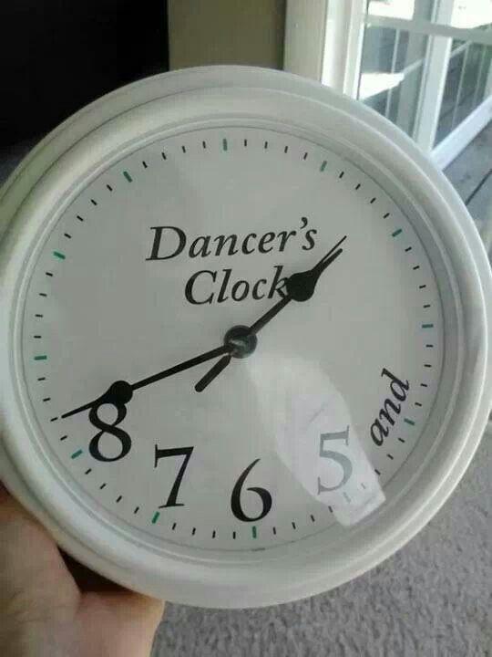 Dancer's clock.