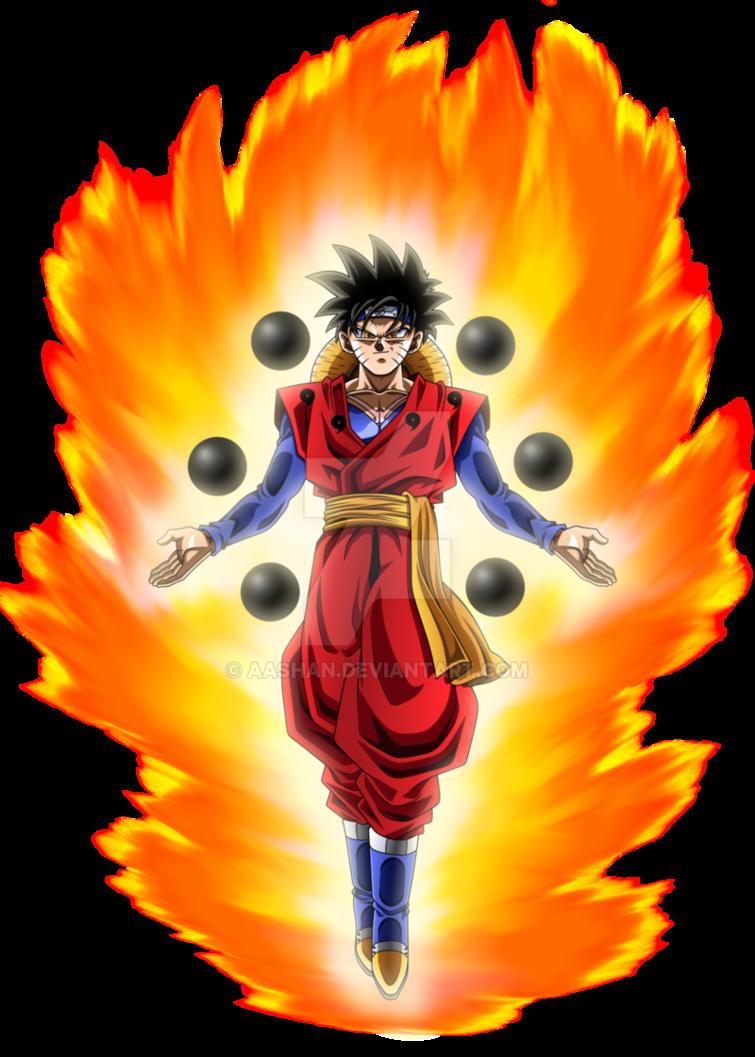 Goku Naruto Luffy Fusion By Aashan Anime Dragon Ball Super Anime Character Design Anime Dragon Ball