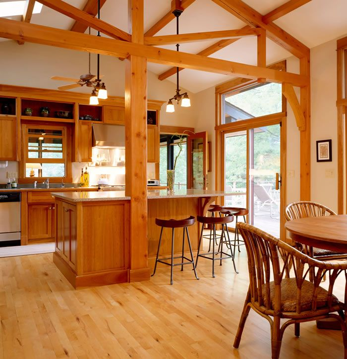 Types Of Kitchen Flooring Ideas: Natural Cherry Hardwood Floors By Shamrock Plank Flooring
