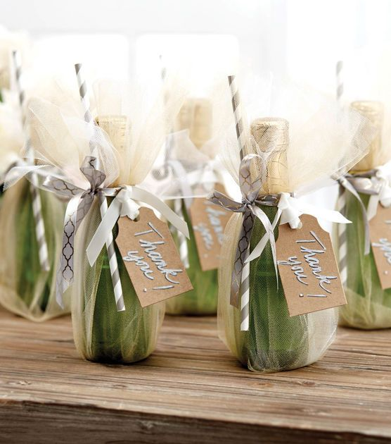 How To Make Tulle Champagne Favors Champagne Favors Champagne Wedding Favors Mini Champagne Favors