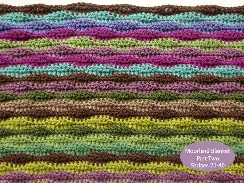 Moorland Blanket Cal Part 2 Striped Blankets Blanket Crochet Blanket Patterns