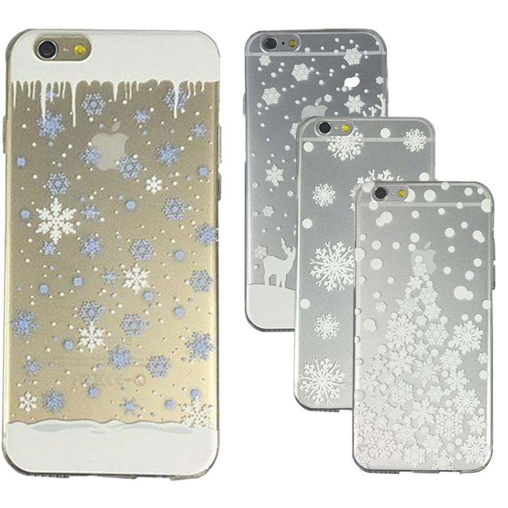 Christmas Snowflake Transparent Printed Soft TPU Case Cover For ...