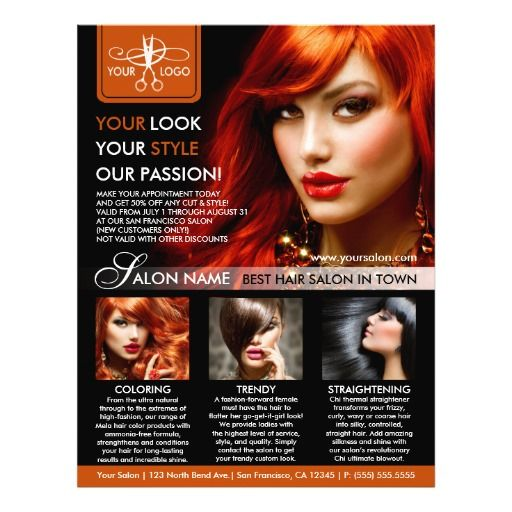 Hair Salon Flyer Templates Hair Stylist Flyers Pinterest