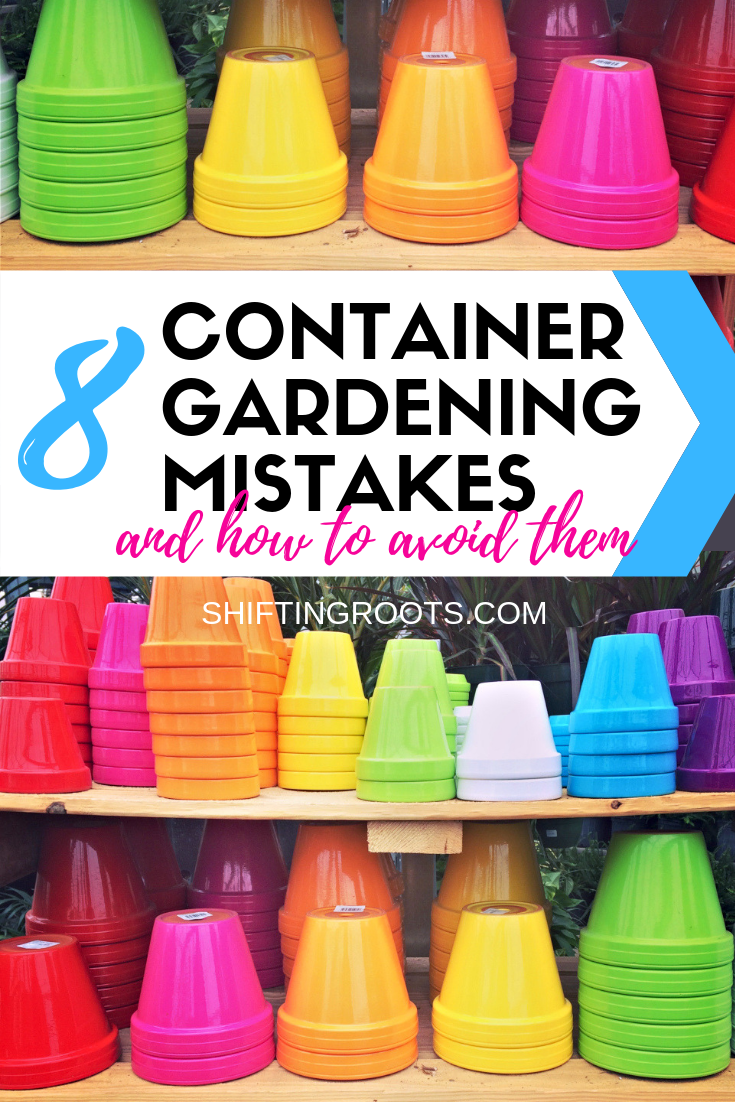 Container gardening in pots on your patio seems easy but it can be tricky for beginners Heres 8 mistakes to avoid to keep your vegetables flowers and herbs alive all seas...