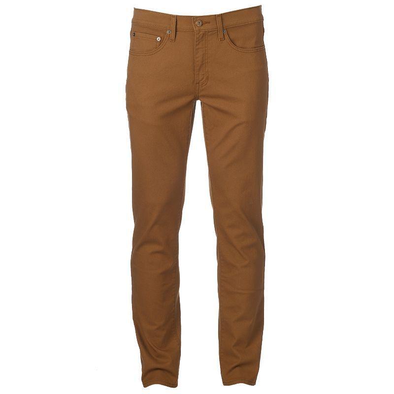 "MaxFlex Men/'s /""Urban Pipeline/"" Size 32x30 Slim Stretch Chino Pants Khaki"