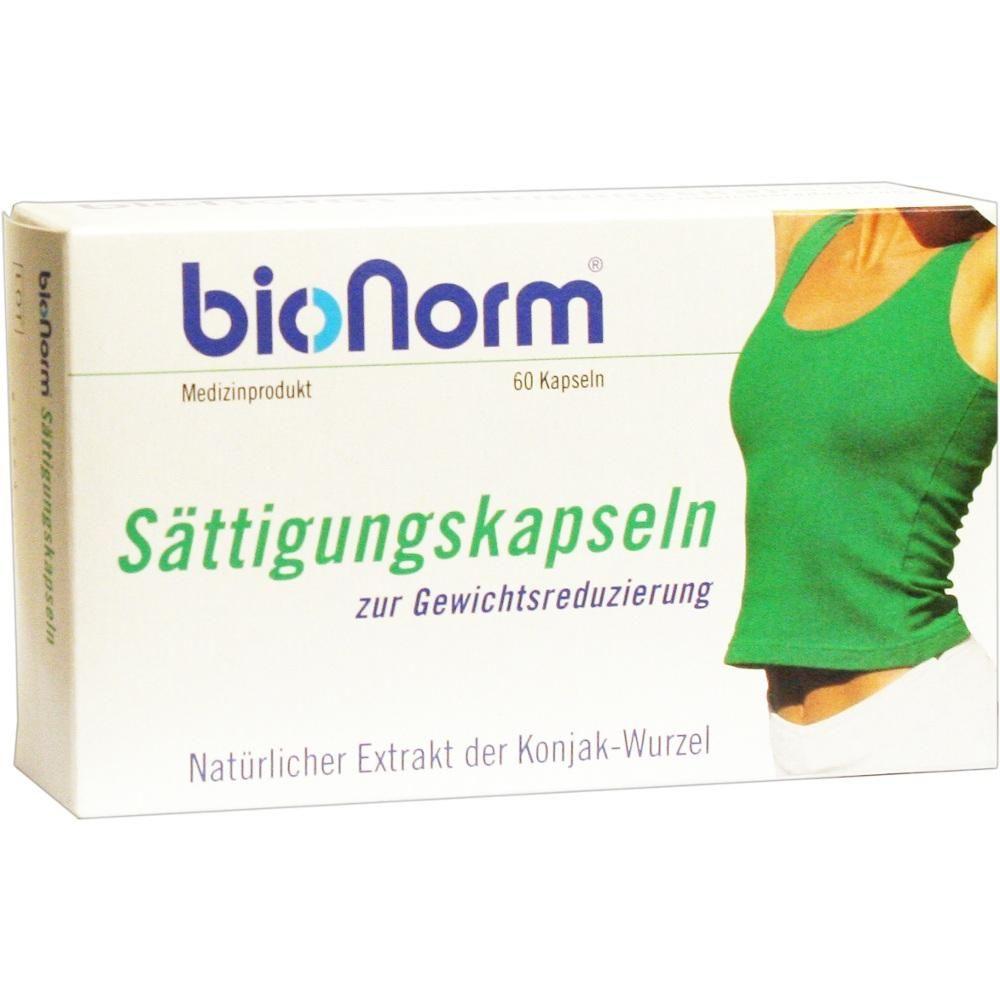 BIONORM Saettigungskapseln Konjak:   Packungsinhalt: 60 St Kapseln PZN: 01998288 Hersteller: pharmarissano Arzneimittel GmbH Preis: 25,67…