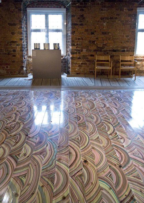 Drveni podovi koji izgledaju kao mermerni
