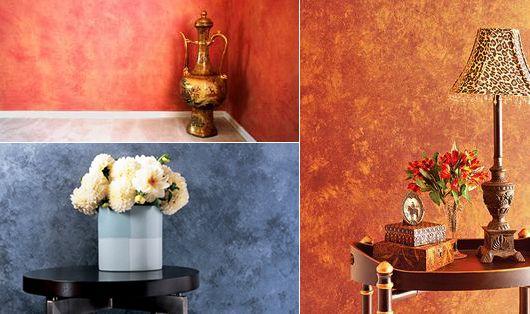 Kreative Wandgestaltung Farbe Durch Streichentechnik Mit Schwamm