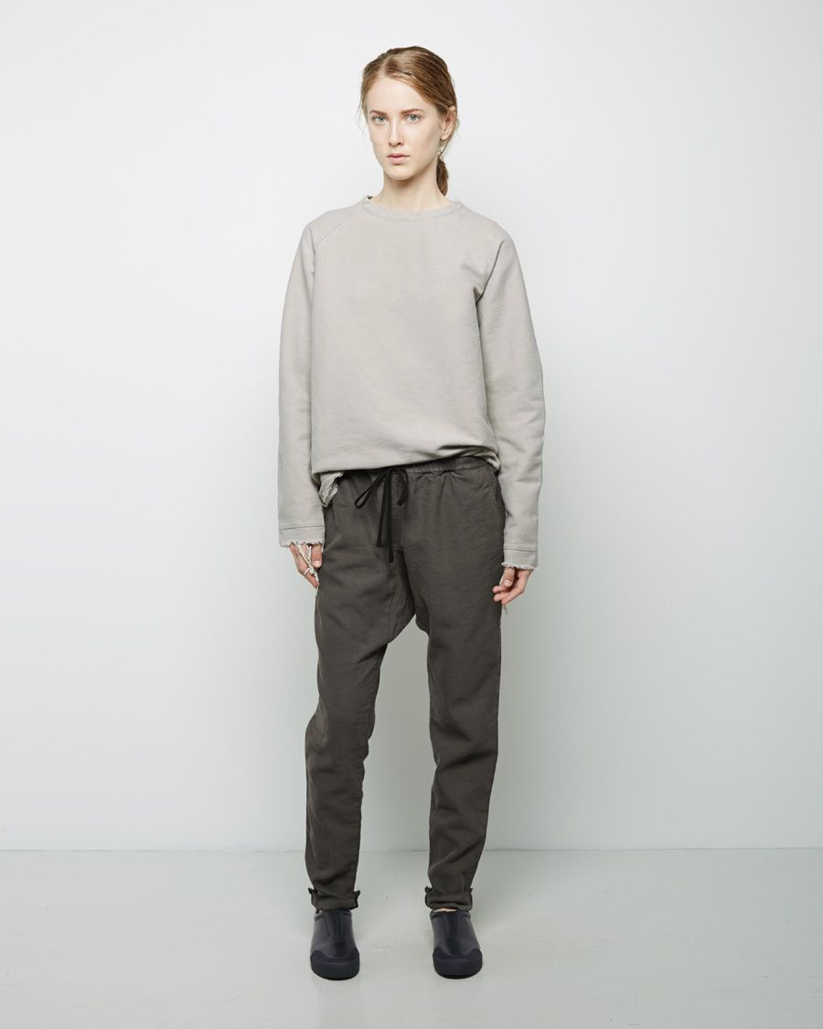 1.61  E.M. Sweatshirt | La Garçonne  밑단, 소매단 올 많이 풀린 티셔츠