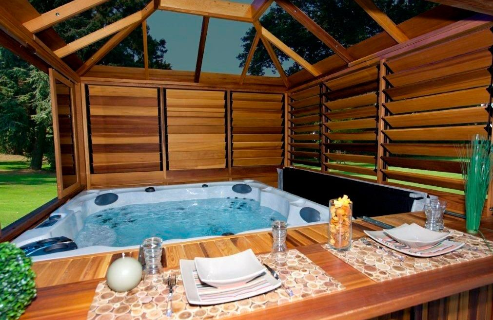 Hot Tub Backyard Ideas Plans Mesmerizing Outdoor Hot Tub Privacy Ideas  Hot Tubs & Jacuzzis  Pinterest . Inspiration