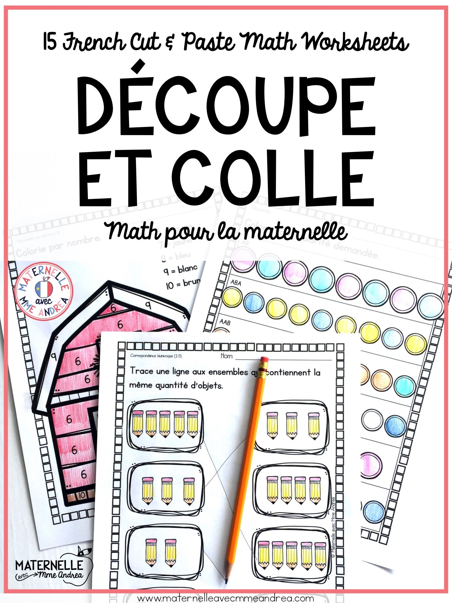 A Perfect Product For Kindergarten Math Here Are 20 Worksheets General Theme Ready To Print And Give To Students Any Math French Lessons Elementary Schools [ 1999 x 1499 Pixel ]