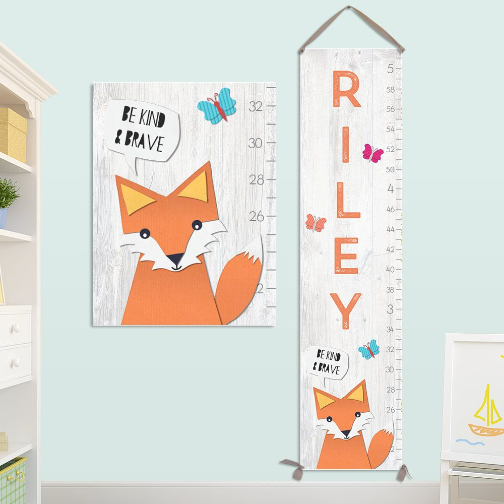 Fox growth chart personalized canvas growth chart fox nursery fox growth chart personalized canvas growth chart fox nursery fox height chart nvjuhfo Gallery