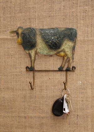Pasture Pals Cow Key Holder Rack With 2 Hooks Fun place to leave your keys...