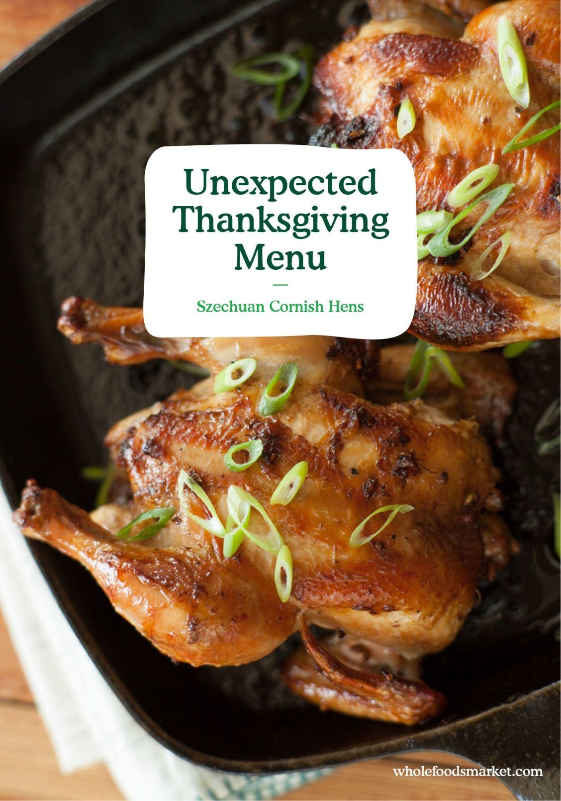 Unexpected Thanksgiving Menu Thanksgiving menu
