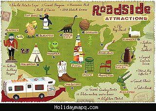 cool united states map tourist attractions