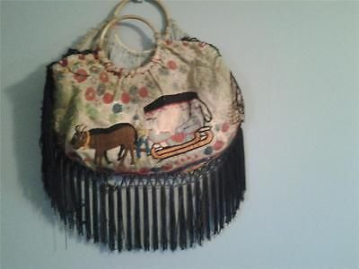 Unique hand #embroidered vintage handbag #fringed detail naive #embroidery,  View more on the LINK: http://www.zeppy.io/product/gb/2/252246287105/