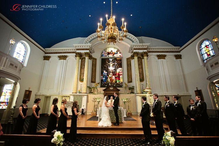 Jennifer Childress Photography | Wedding | Atrium at the Curtis Center | Philadelphia, PA | EBE | Beautiful Blooms | Cescaphe Events Group | Bride and Groom | Ceremony |  www.jennchildress.com