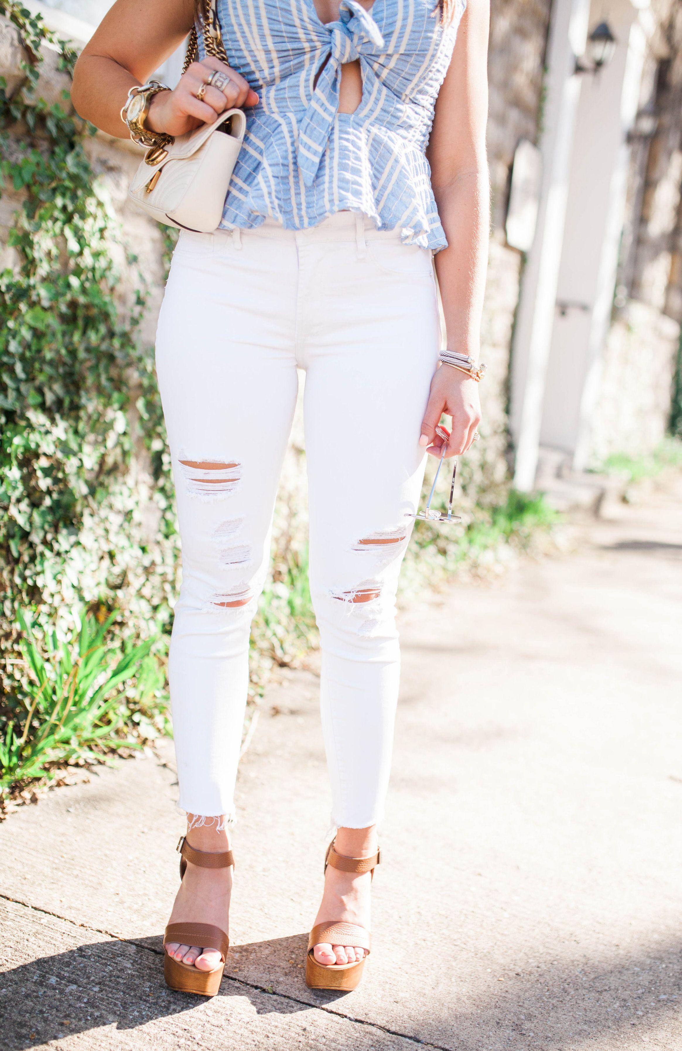 9c66c8f4708 How to wear a crop top   stripe crop top