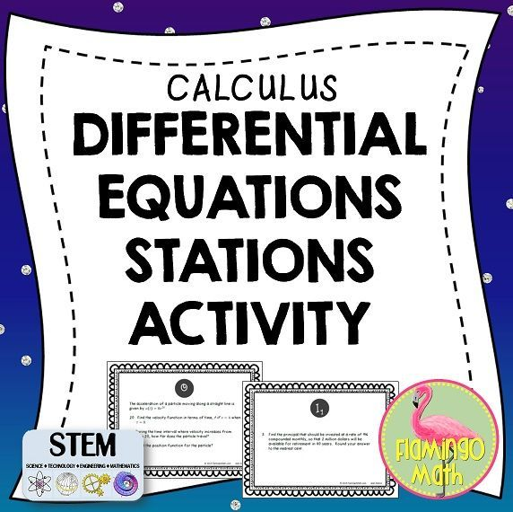 Calling all Calculus teachers, grab this station activity with 11 different task cards. Great collaboration for your students. In depth and rigorous prompts covering all aspects of Differential Equations.