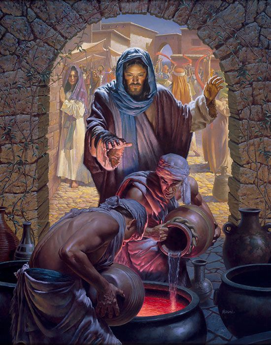 Morgan Weistling - Water to Wine - OPEN EDITION CANVAS Published by the Greenwich Workshop | Miracles of jesus,  Jesus pictures, Jesus art