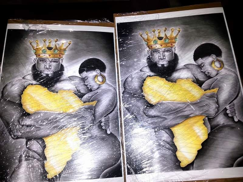 My African King Queen Art Reprints For Sell Racheal Tha Great