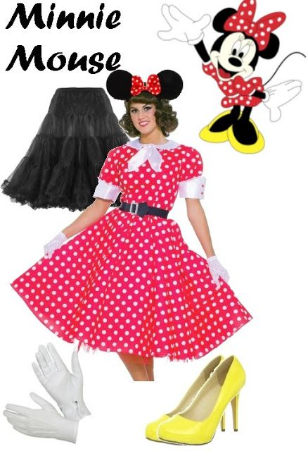 Modest Costumes: Modest Minnie Mouse Costume Black underscarf ...
