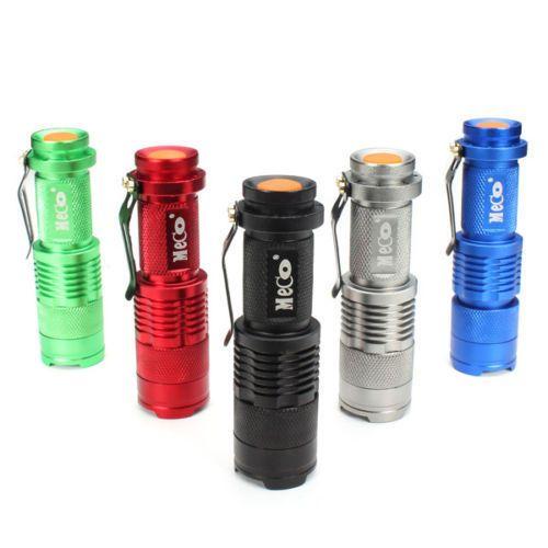 NEW MECO Q5 500LM Multicolor Zoomable Mini LED Flashlight 14500/AA/US STOCK! #Meco