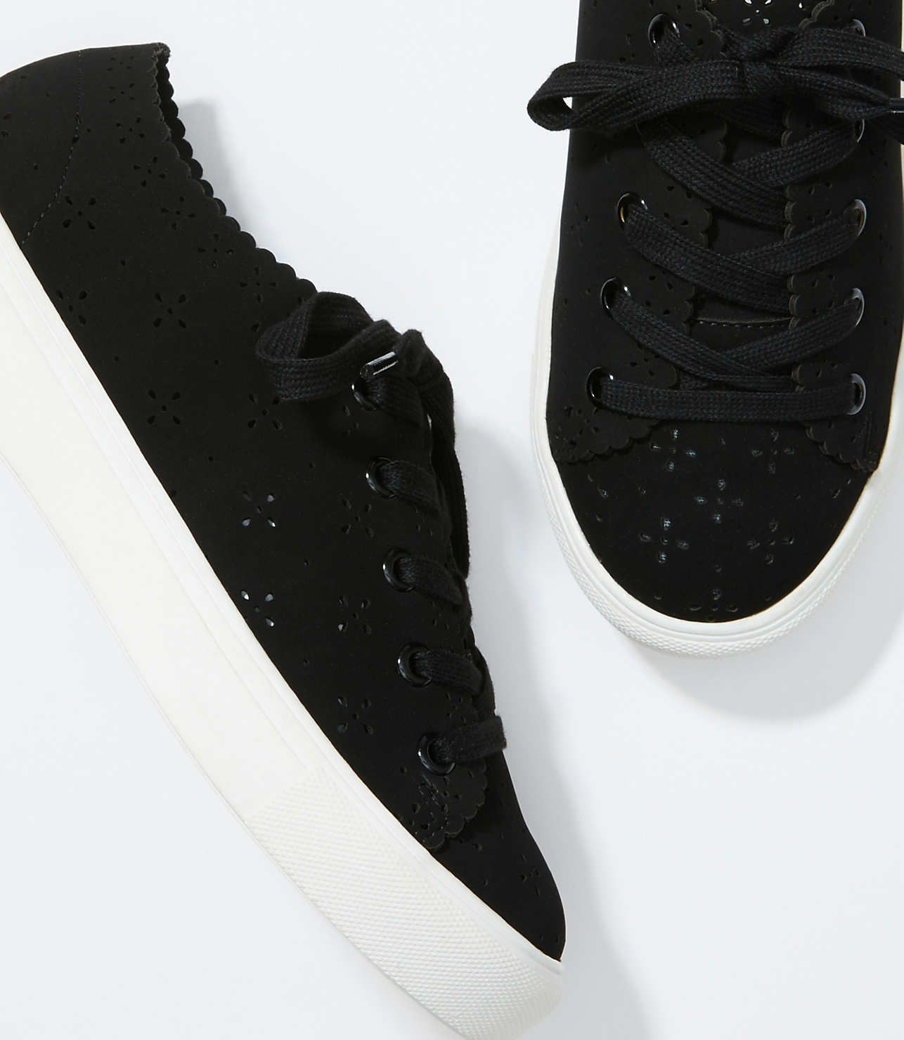 Eyelet Lace Up Sneakers   LOFT