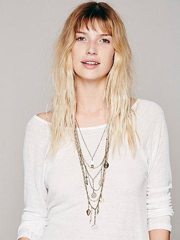 Coral Free People Multicharm Rosary