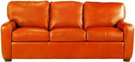 Incroyable Orange Leather Couch