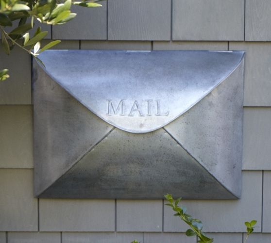 Envelope Mailbox Pottery Barn Mailbox Cool Mailboxes
