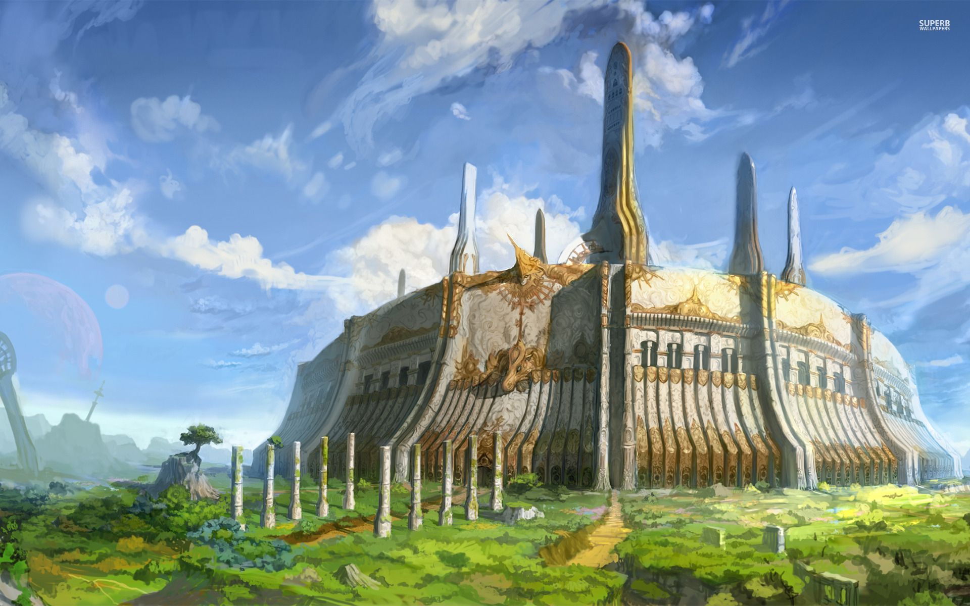 Castle Fantasy Wallpapers Wallpapers With Castle Fantasy Castle Buildings Artwork The Elder Scrolls Iv
