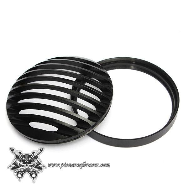 Faro Delantero Estilo CafeRacer / Harley-Davidson 6 Pulgadas con Rejilla Color Negro -- 40,27€