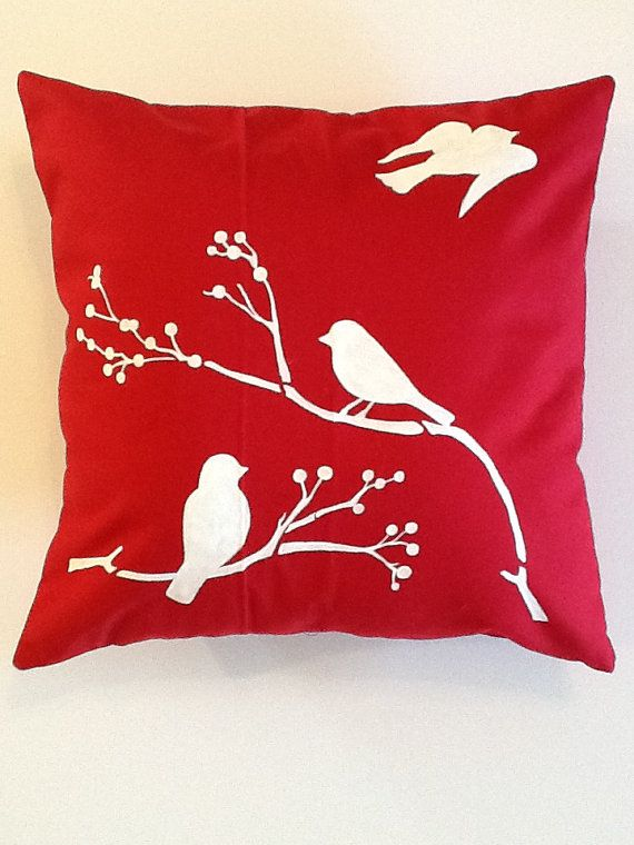 Phoebe Handpainted Throw Pillow Coverred By Americanwildflower