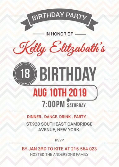 Retro Birthday Party Invitation Card Template Retro Birthday Parties Retro Birthday Invitation Cards