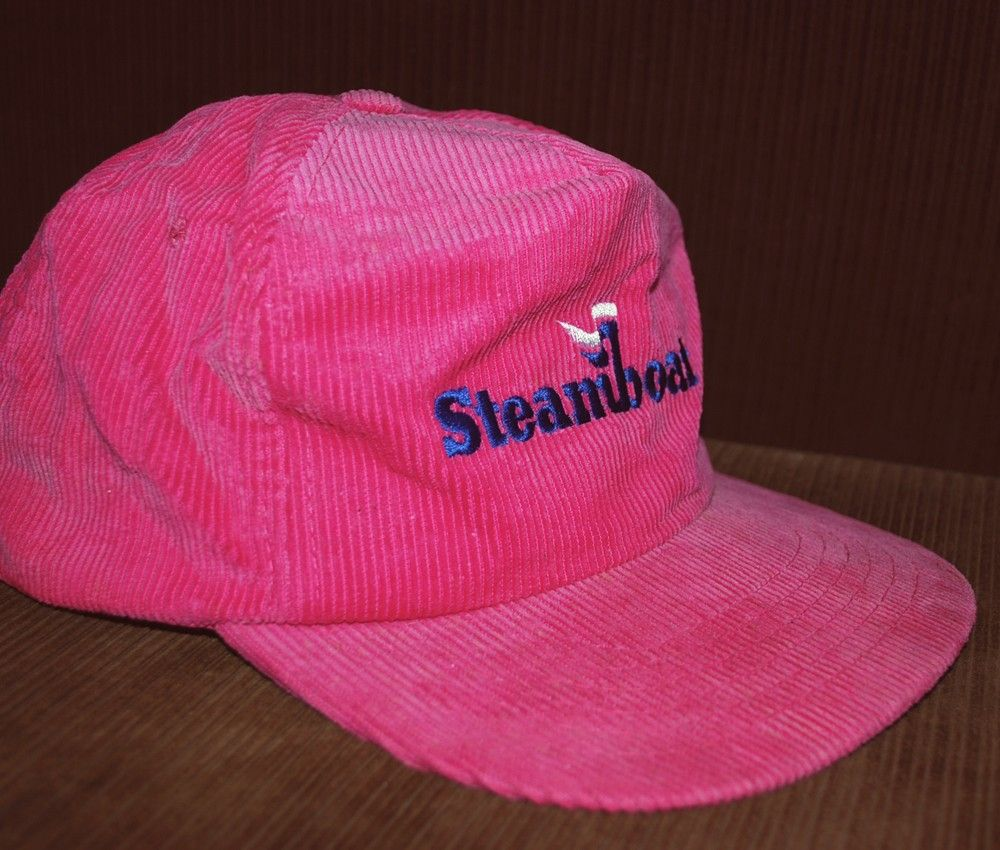 vintage 80 s STEAMBOAT ski corduroy baseball hat cap pink.  12.00 0e2cdffc71c