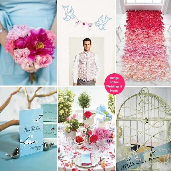 The photo backdrop with its sky blue love birds petal pink banner the photo backdrop with its sky blue love birds petal pink banner and fuchsia initials bird wedding themesspring wedding decorationslove birds junglespirit Gallery