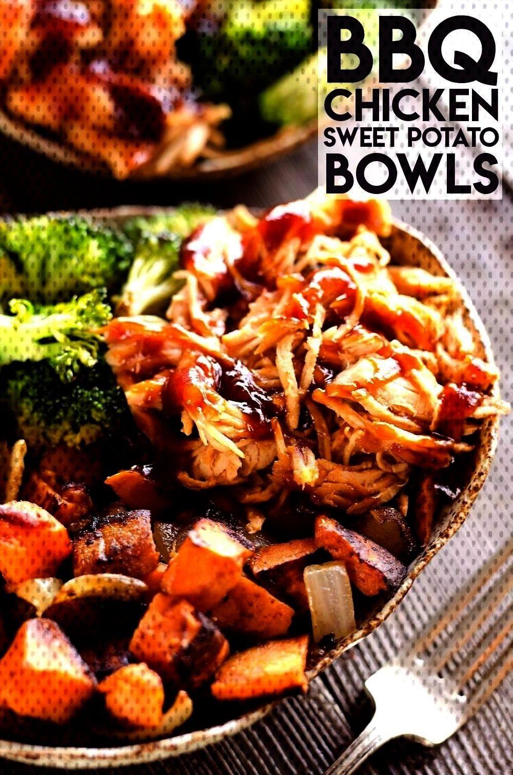 amp Roasted Sweet Potato Bowls BBQ Chicken amp Roasted Sweet Potato Bowls are a hearty andBBQ Chicken