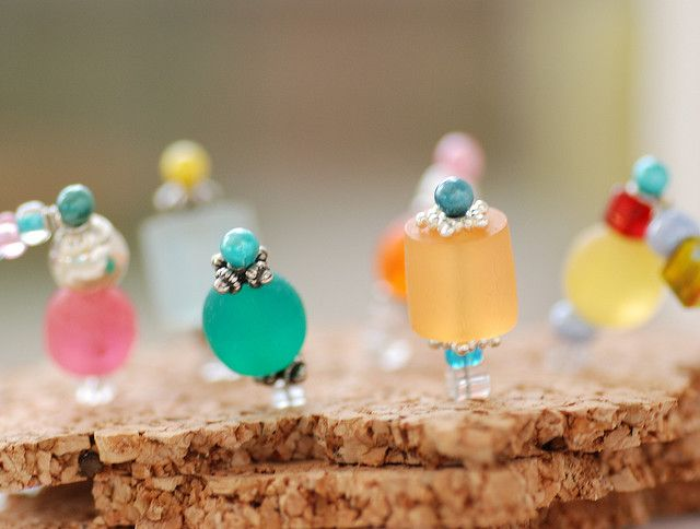 - Beaded Pushpins for Corkboard or Jewelry Display