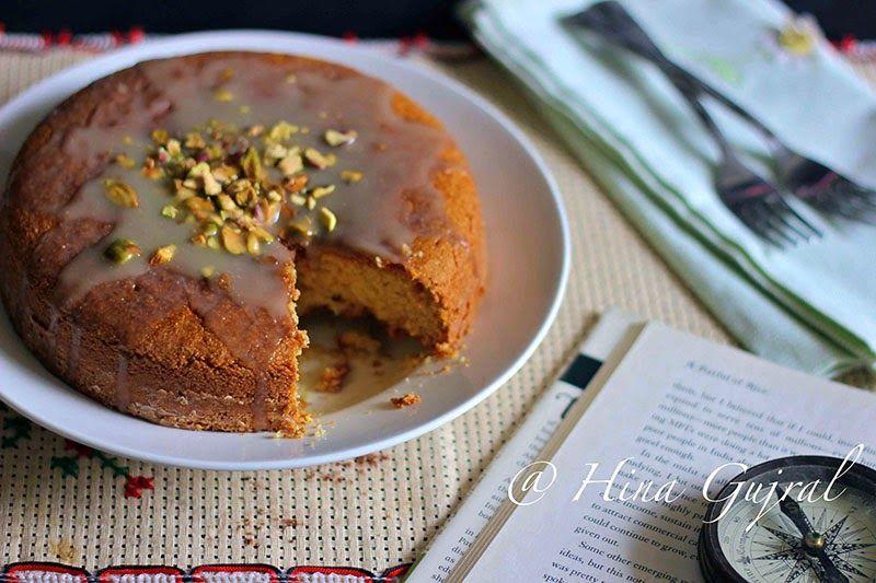 Eggless Cardamom Spiced Semolina Cake Recipe